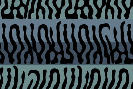 Mackerel scale. Vector seamless animal pattern. Black stripes skin of mackerel on blue and aqua background. Fish print. Reklamní fotografie - 119922297