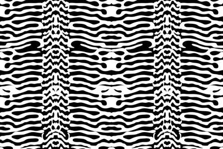 Animal print. Vector seamless pattern. Black stripes isolated on white background.
