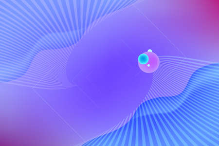 Vector abstract background. Purple and blue fluid shapes composition with stripes.