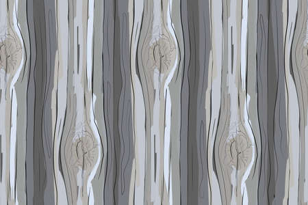 Vector seamless pattern. Wood texture. Natural old logs. Gray, light beige, white boards with knot from old barn.