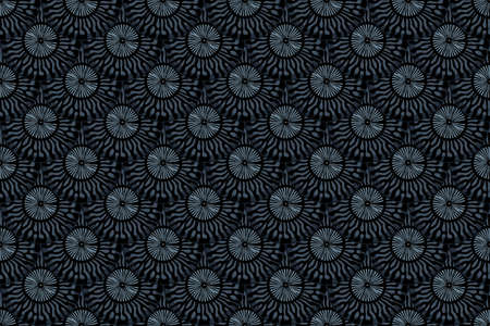 Seamless pattern with fish scales. Animal print. Gray, navy blue, black colors.