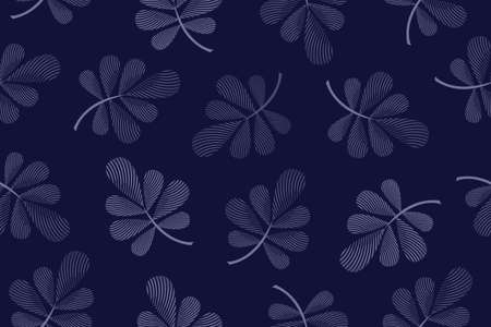 Art floral vector seamless pattern. Blue leaves.
