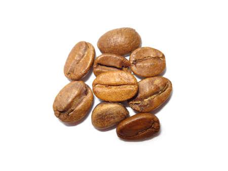 Coffee beans isolated on a white background. Zdjęcie Seryjne