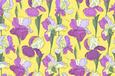 Art floral vector seamless pattern. 免版税图像 - 153410964