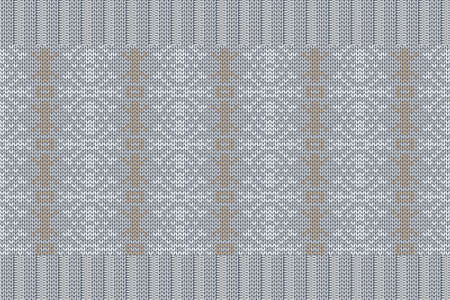 Christmas and Winter holiday knitting pattern for plaid, sweater design. Vector seamless pattern in gray, brown colors. 免版税图像 - 158391265
