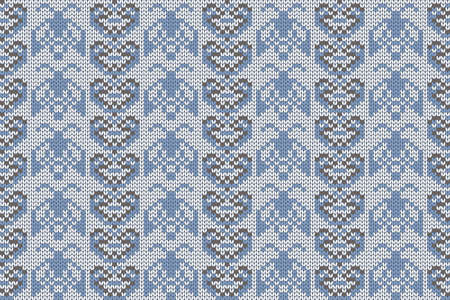 Christmas and Winter holiday knitting pattern for plaid, sweater design. Vector seamless pattern. 矢量图像