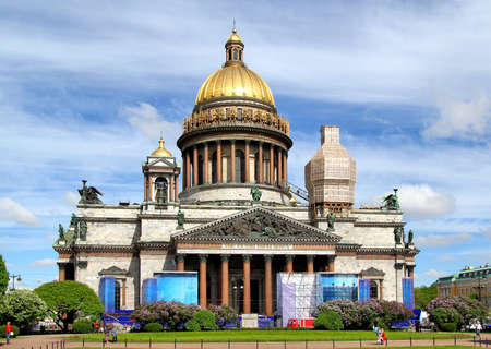 isaac s: Saint Isaac s Cathedral in Saint Petersburg, Russia Stock Photo