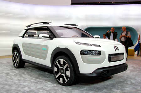 FRANKFURT AM MAIN, GERMANY - SEPTEMBER 14  French concept car Citroen Cactus exhibited at the annual IAA  Internationale Automobil Ausstellung  on September 14, 2013 in Frankfurt am Main, Germany  Stock Photo - 25476183