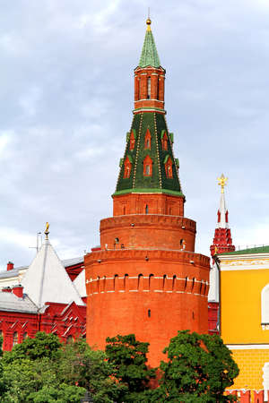 Corner Arsenalnaya Tower of Moscow Kremlin, Russia photo