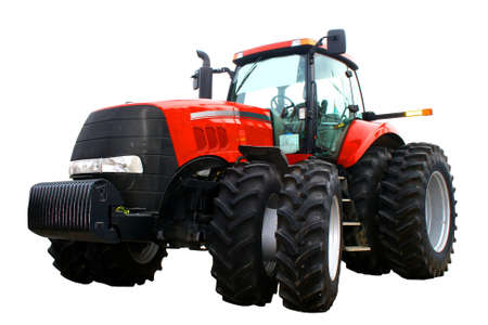 wheeled tractor: New red tractor