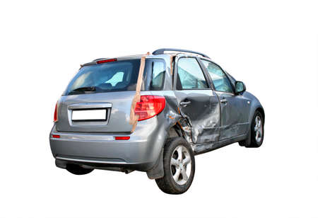 crashed: Damaged car