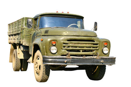 Green military truck photo