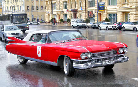 eldorado: MOSCOW, RUSSIA - JUNE 3  American motor car Cadillac Eldorado competes at the annual L U C  Chopard Classic Weekend Rally on June 3, 2012 in Moscow, Russia  Editorial