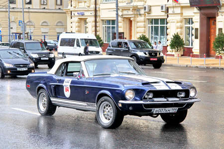 MOSCOW, RUSSIA - JUNE 3  American motor car Shelby Mustang competes at the annual L U C  Chopard Classic Weekend Rally on June 3, 2012 in Moscow, Russia