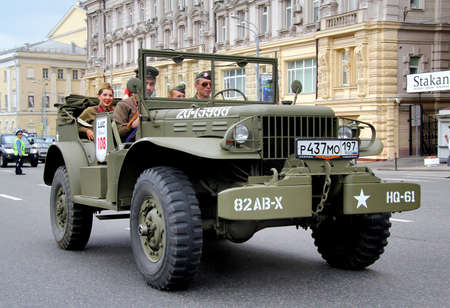 MOSCOW, RUSSIA - JUNE 2  American command car Dodge WC-57 competes at the annual L U C  Chopard Classic Weekend Rally on June 2, 2013 in Moscow, Russia