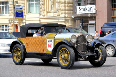 museum rally: MOSCOW, RUSSIA - JUNE 2  French motor car Avions Voisin competes at the annual L U C  Chopard Classic Weekend Rally on June 2, 2013 in Moscow, Russia  Editorial