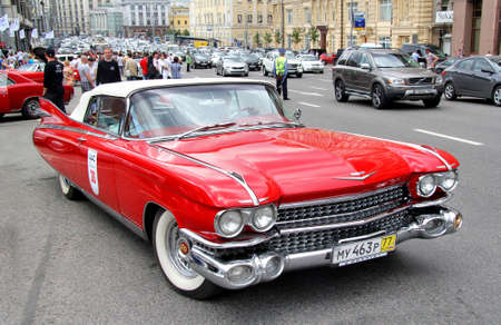 eldorado: MOSCOW, RUSSIA - JUNE 2  American motor car Cadillac Eldorado competes at the annual L U C  Chopard Classic Weekend Rally on June 2, 2013 in Moscow, Russia  Editorial