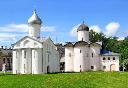 novgorod: Churches of Yaroslav Stock Photo