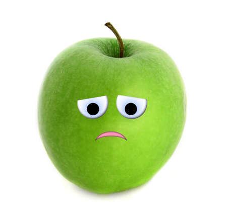 Very sad apple Stock Photo