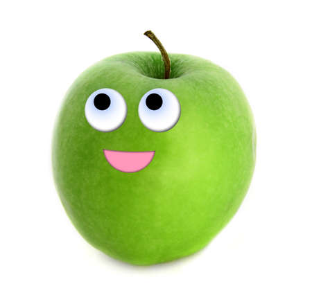 granny smith apple: Hopeful apple Stock Photo