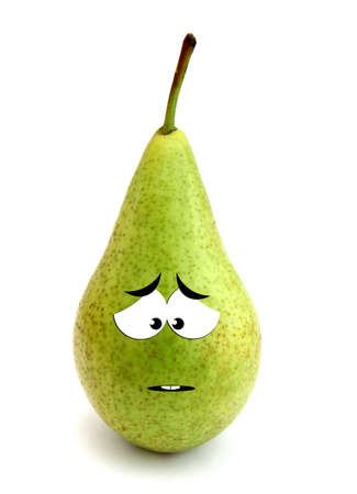distressing: Sad pear