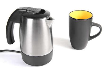 Tea set isolated over white background photo