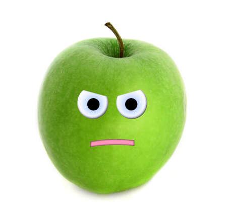 wrathful: Angry apple Stock Photo