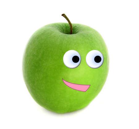 Cheerful apple photo
