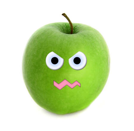 wrath: Mad apple Stock Photo