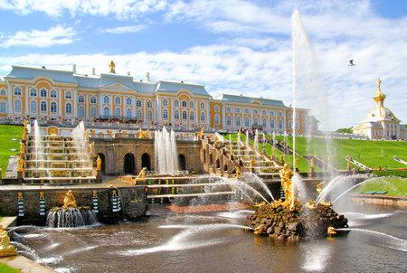 peterhof: Samson Fountain of the Grand Cascade near Peterhof Palace, Russia