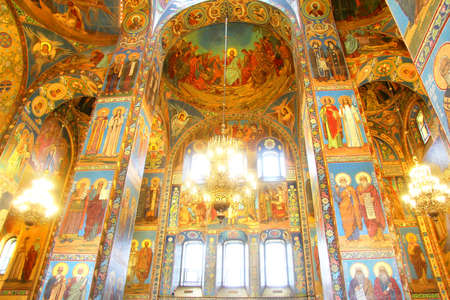 Interior of the Church of the Savior on Spilled Blood  in Saint Petersburg, Russia
