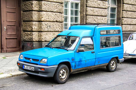 renault 5: BERLIN, GERMANY - SEPTEMBER 12, 2013: Motor car Renault Express at the city street. Editorial