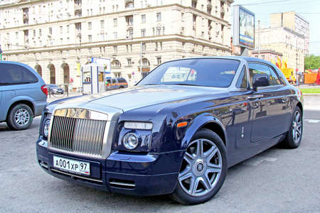 phantom: MOSCOW, RUSSIA - MAY 6, 2012: Modern luxury car Rolls-Royce Phantom Coupe at the city street. Editorial