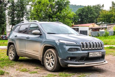 cherokee: ASHA, RUSSIA - JULY 18, 2015: Motor car Jeep Cherokee at the city street.