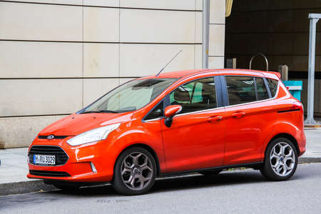 micro drive: DRESDEN, GERMANY - JULY 20, 2014: Motor car Ford B-Max at the city street. Editorial