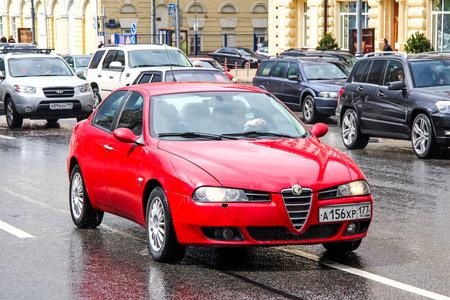 alfa: MOSCOW, RUSSIA - JUNE 3, 2012: Motor car Alfa Romeo 156 at the city street.