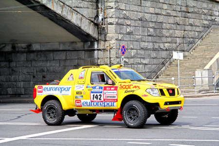 proto: MOSCOW, RUSSIA - JULY 7: Etienne Smulevicis Proto Eurorepar No. 142 of Sodicars Team takes part at the annual Silkway Rally - Dakar series on July 7, 2012 in Moscow, Russia.