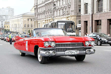 museum rally: MOSCOW, RUSSIA - JUNE 2, 2013: American motor car Cadillac Eldorado competes at the annual L.U.C. Chopard Classic Weekend Rally. Editorial