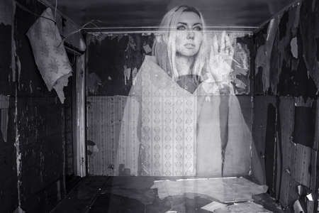 abandoned room: Ghost in an abandoned room