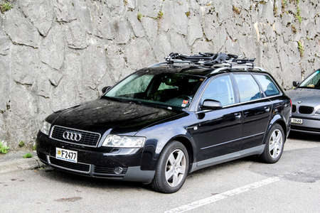 a6: MONTREUX, SWITZERLAND - AUGUST 6, 2014: Motor car Audi A6 at the city street. Editorial