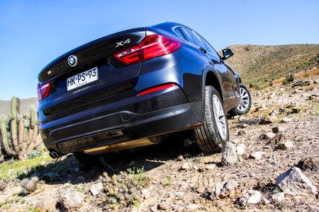 ATACAMA, CHILE - NOVEMBER 13, 2015: New black crossover BMW F26 X4 at the Atacama desert.