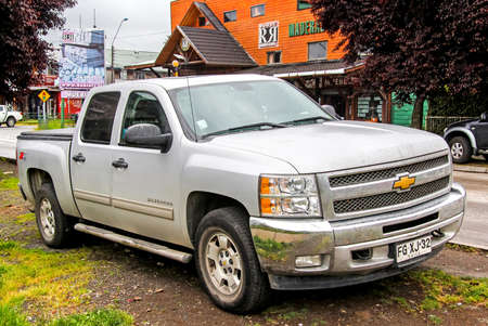 silverado: VILLARRICA, CHILE - NOVEMBER 20, 2015: Pickup truck Chevrolet Silverado at the city street. Editorial