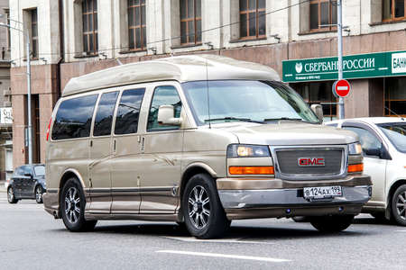 savana: MOSCOW, RUSSIA - JUNE 2, 2013: Motor car GMC Savana at the city street. Editorial