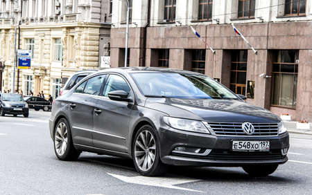 MOSCOW, RUSSIA - JUNE 2, 2013: Motor car Volkswagen Passat CC at the city street. Editorial