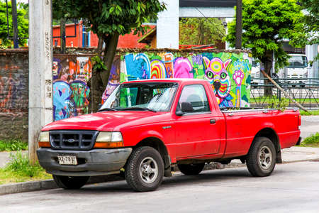 utilitarian: TEMUCO, CHILE - NOVEMBER 22, 2015: Motor car Ford Ranger at the town street.