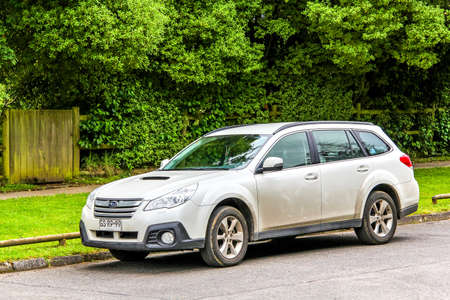 legacy: PUCON, CHILE - NOVEMBER 20, 2015: Motor car Subaru Legacy Outback at the town street. Editorial