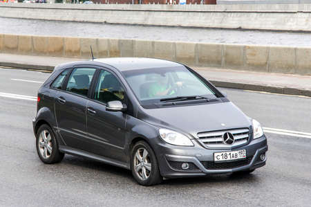 mpv: MOSCOW, RUSSIA - JUNE 2, 2013: Motor car Mercedes-Benz W245 B-class at the city street. Editorial