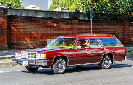 squire: BERLIN, GERMANY - AUGUST 12, 2014: Motor car Ford Country Squire at the city street. Editorial