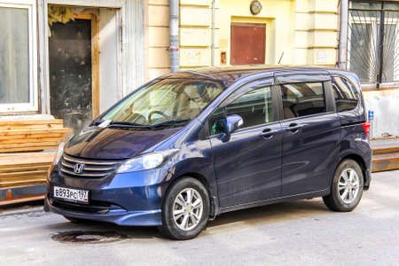 freed: MOSCOW, RUSSIA - JUNE 2, 2013: Motor car Honda Freed at the city street. Editorial