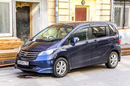 capacious: MOSCOW, RUSSIA - JUNE 2, 2013: Motor car Honda Freed at the city street. Editorial